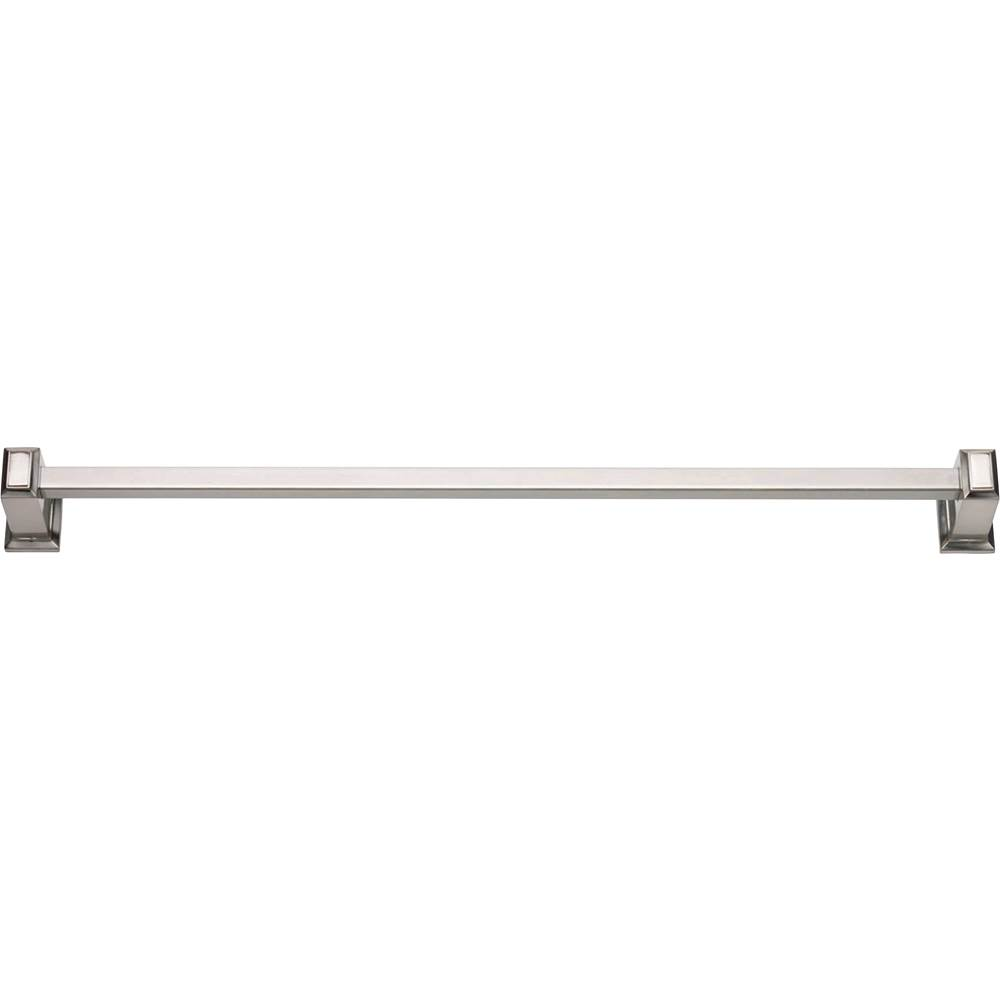 Atlas Sutton Place Bath Towel Bar 24 Inch Single Brushed Nickel