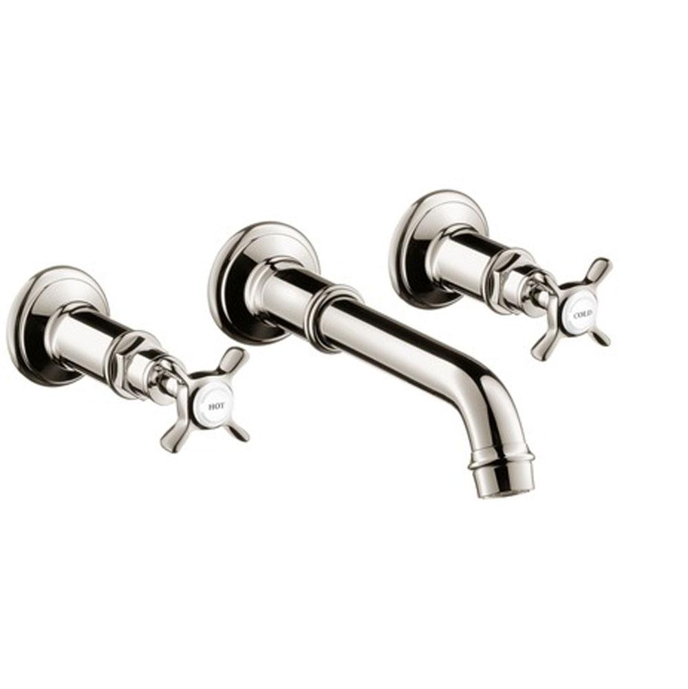 Axor AXOR Montreux Wall-Mounted Widespread Faucet Trim with Cross Handles, 1.2 GPM in Polished Nickel