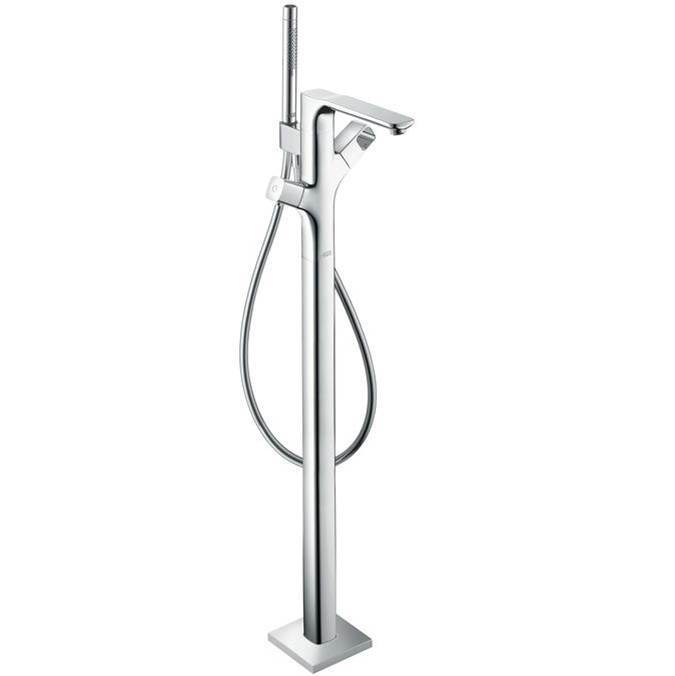 Axor AXOR Urquiola Thermostatic Freestanding Tub Filler Trim with 1.75 GPM Handshower in Chrome