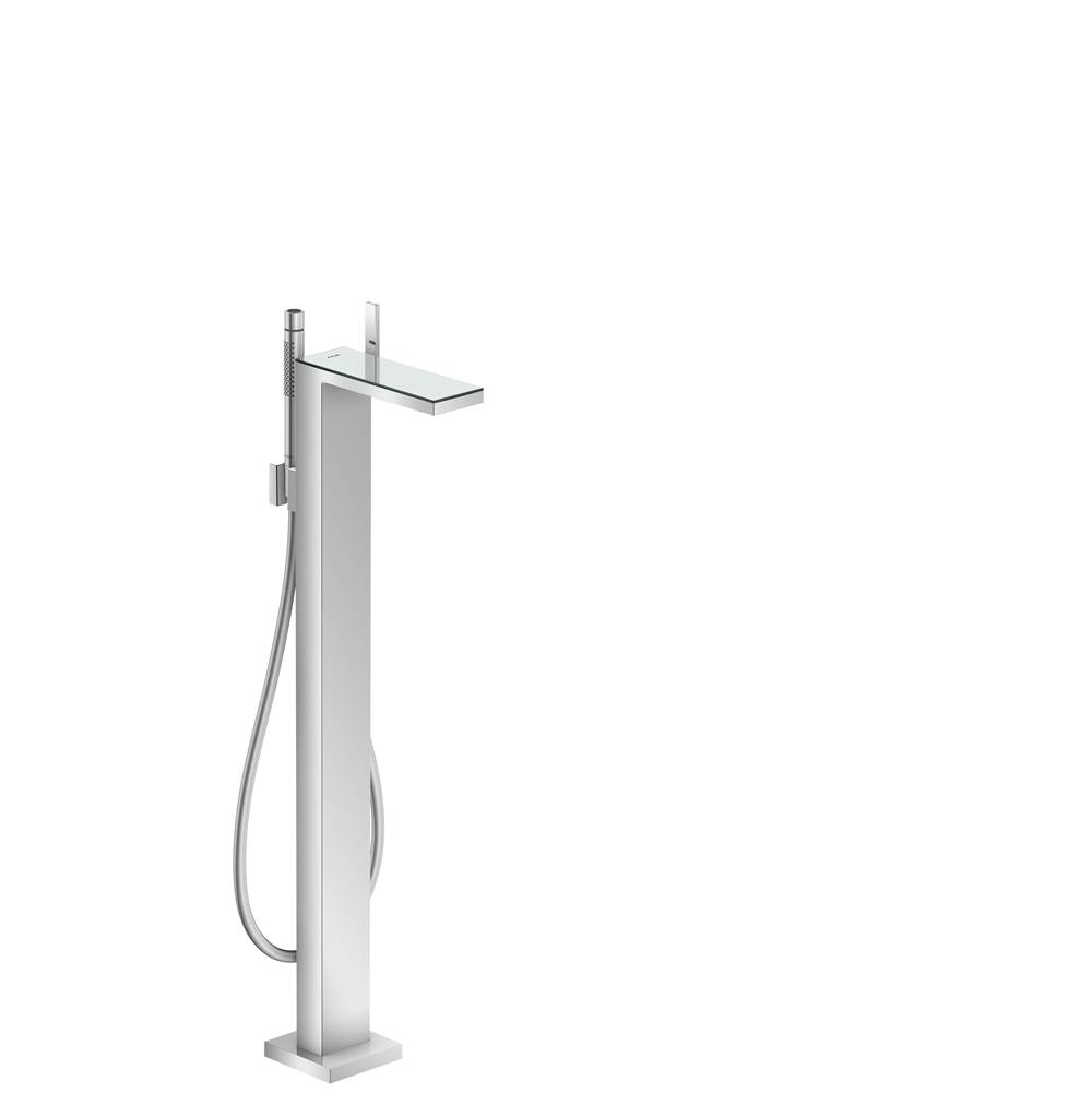 Axor AXOR MyEdition Freestanding Tub Filler Trim with 1.75 GPM Handshower in Chrome / Mirror Glass