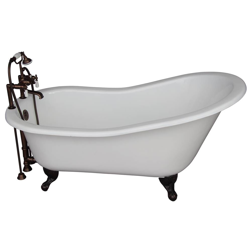 Barclay Tub Kit 67'' CI Slipper, Tub Filler, Supplies, Drain-ORB