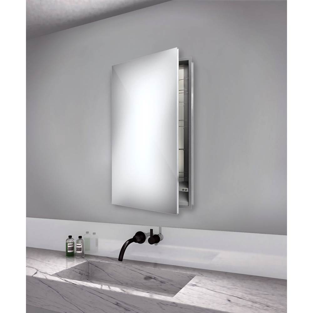 Electric Mirror Simplicity 23.25w x 40h  Mirrored Cabinet - Left hinged