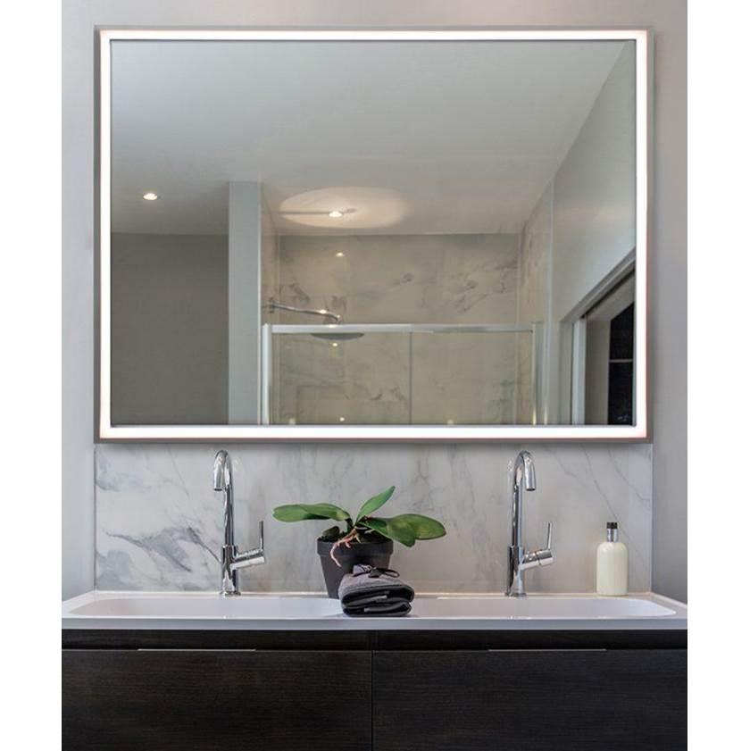 Electric Mirror Radiance - Black Frame Lighted Mirror
