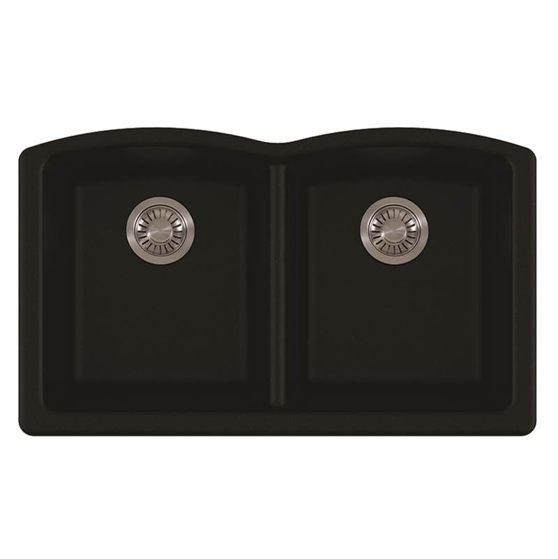 Franke Ellipse Undermount Granite Onyx Dbl 36Cab