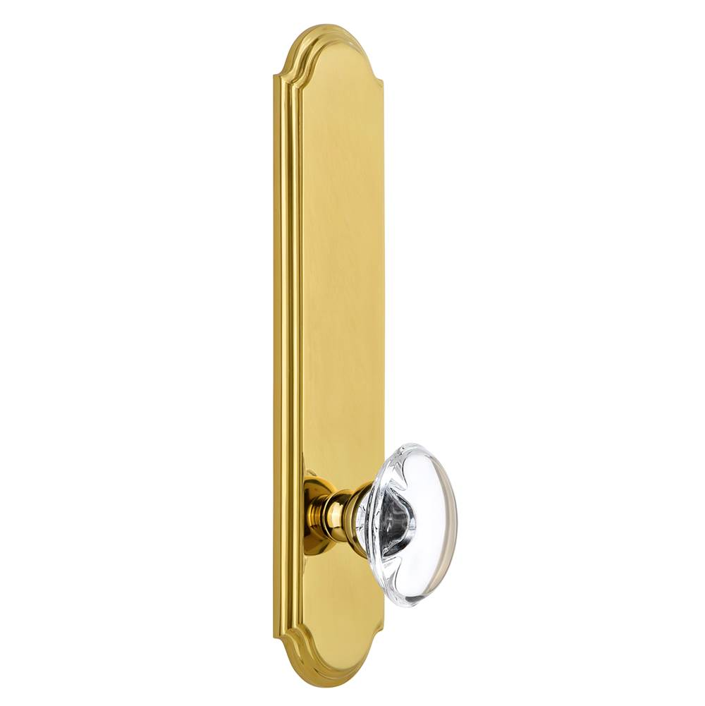 Grandeur Hardware Grandeur Hardware Arc Tall Plate Privacy with Provence Knob in Lifetime Brass