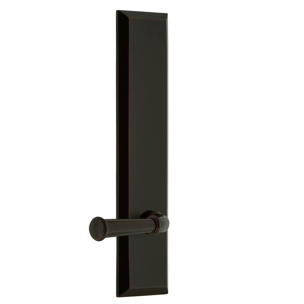Grandeur Hardware Grandeur Hardware Fifth Avenue Tall Plate Passage with Georgetown Lever in Timeless Bronze