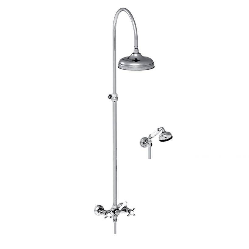 Horus HORUS ELOISE EXPOSED THERMOSTATIC VALVE WITH HANDSHOWER & 10'' SHOWERHEAD, UB