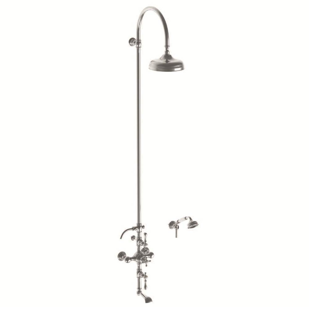 Horus HORUS ST GERMAIN EXPOSED THERMOSTATIC VALVE WITH TUB SPOUT & 8'' SHOWERHEAD WITH METAL LEVER HANDLES, PS