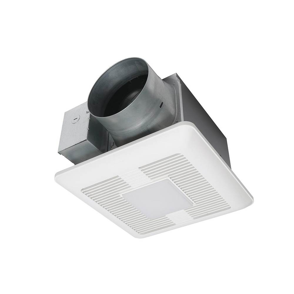 Panasonic WhisperCeiling DC fan with LED light,  Pick-A-Flow™ Speed Selector 110, 130, 150 CFM with ECM Motor