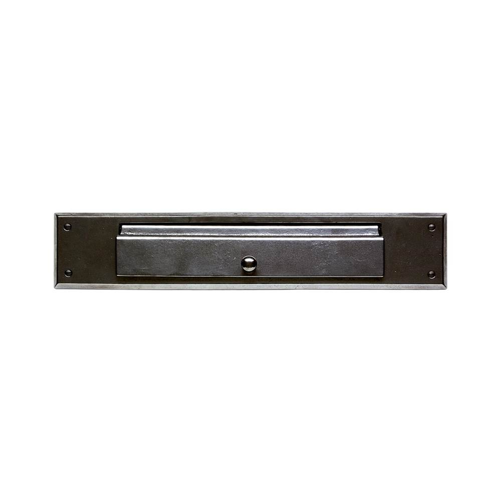 Rocky Mountain Hardware Home Accessory Mail Slot, with interior frame