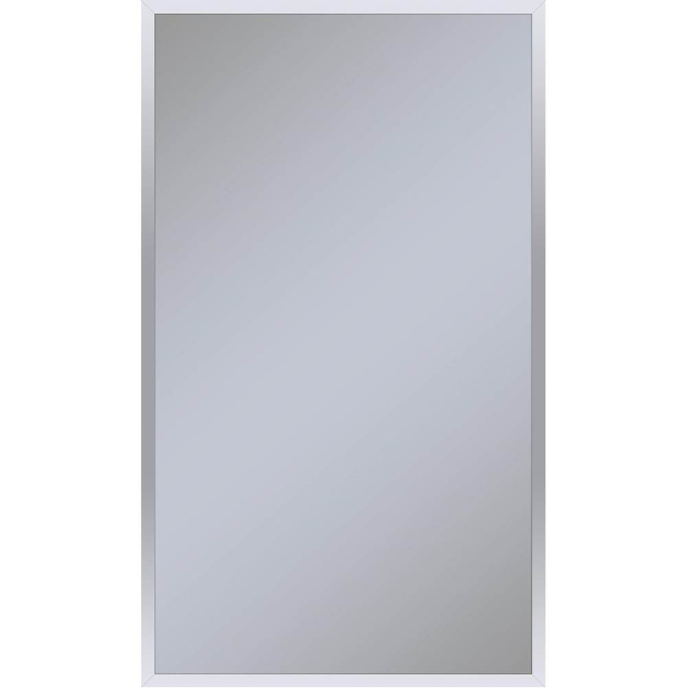 Robern Profiles Framed Cabinet, 24'' x 40'' x 4'', Chrome, Electrical Outlet, USB Charging Ports, Right Hinge