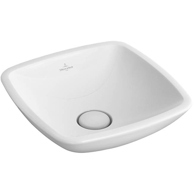 Villeroy And Boch Loop & Friends Surface-mounted washbasin 15'' x 15'' (380 x 380 mm)