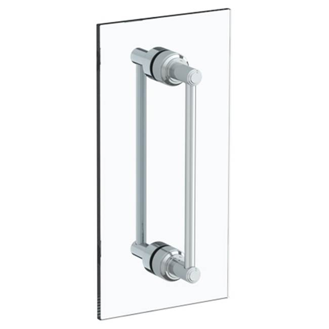Watermark Transitional 12'' double shower door pull/ glass mount towel bar