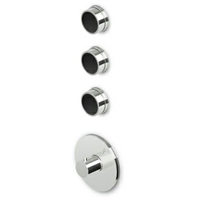 Zucchetti Faucets Built-In Thermostatic Shower Mixer With 3 Volume Controls